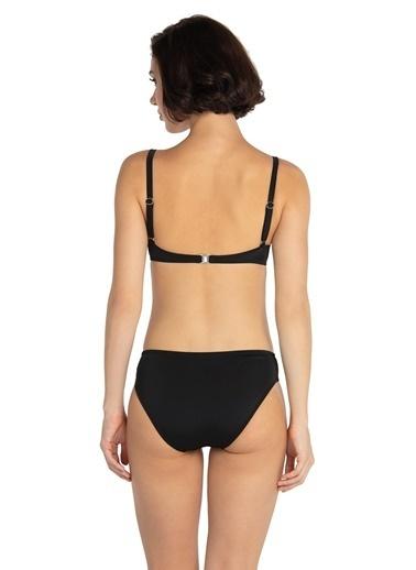 Dagi Balenli Tünelli Bikini Takım Siyah